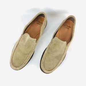 Men's Clarks Leather Suede Slip On Loafer 11